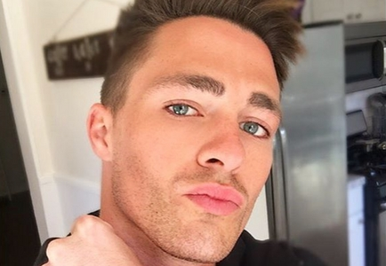 he has amazing cheekbones