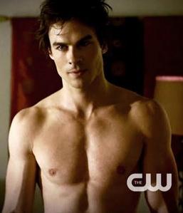 Ian shirtless
