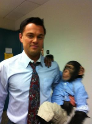 Leo with a chimp :)