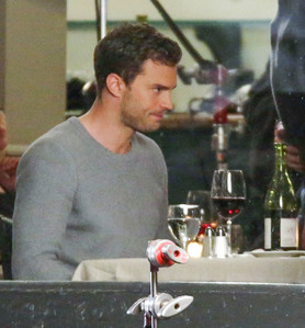 Mr.Grey(Jamie Dorman) in grey<3