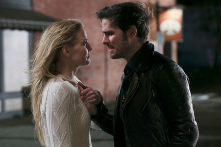 Colin O'Donoghue in a scene from Once Upon A Time with Jennifer Morrison