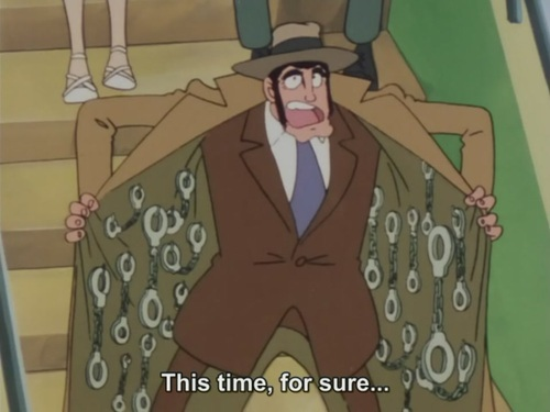 Inspector Zenigata from Lupin the 3rd