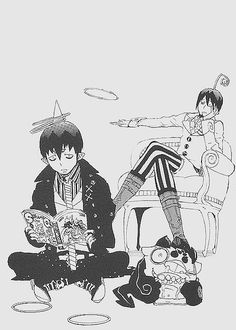 Amaimon from Blue Exorcist. I wonder how many people thought he couldn't read...
