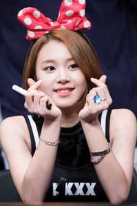 My bestfriend says that I look like Chaeyoung from TWICE because of my short hair and minnie mouse headband or sometimes Hani from EXID.