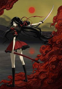 You HAVE to see Blood-C (it's diferent from blood+) There is a movie too but see the anime First.
