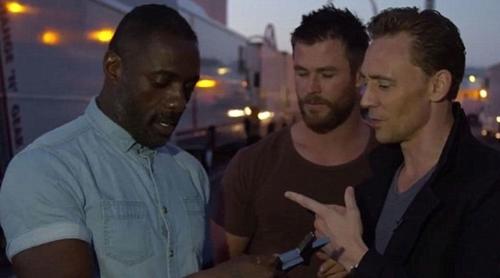 Chris Hemsworth,Tom Hiddleston and Idris Elba from this mwezi