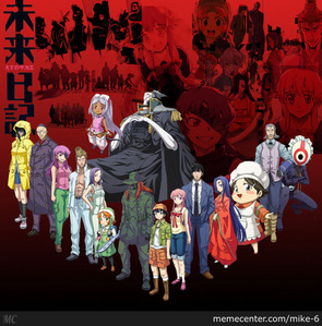 Future diary is a good one 😊 it has got plenty of blood and gore but its also romantic at the same time id also say its kinda got a bit of comedy in there and towards the end its pretty sad.