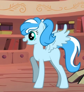 Name:Crystal Ice (her familiar name is Crysty) Gender:female Cutie mark:a snowflake and snow around Hobbies:read বই and playing computer games Personality:Smart,Friendly,a little Serious,Kind and Generous Fact:very smart,her magic when she angry can make a snowstorm. Picture: