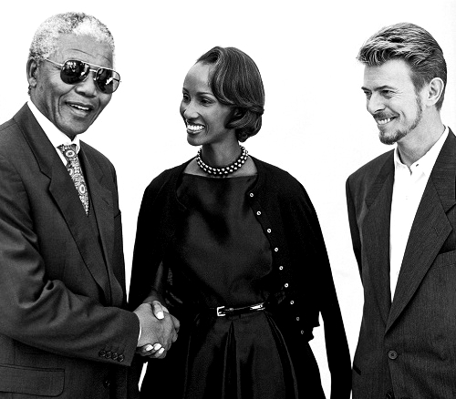 Bowie, Iman and Nelson Mandela