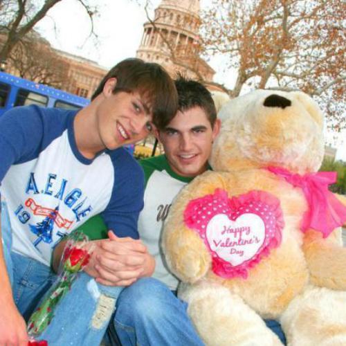 Colton and his ex boyfriend.