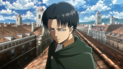 Right in the middle. Levi. He is 30, not immortal and LOOKS 16