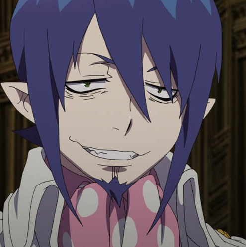 Well, he's a demon king...but he is a god-level demon and he controls luar angkasa and time, and is also the embodiment of time. So, Mephisto, aka Samael from Blue Exorcist. ^-^ My husband~ <3