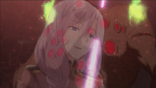 When Maihime unknowingly killed Airi Yūnami, who was a motherly figure to her, in the Qualidea Code anime.