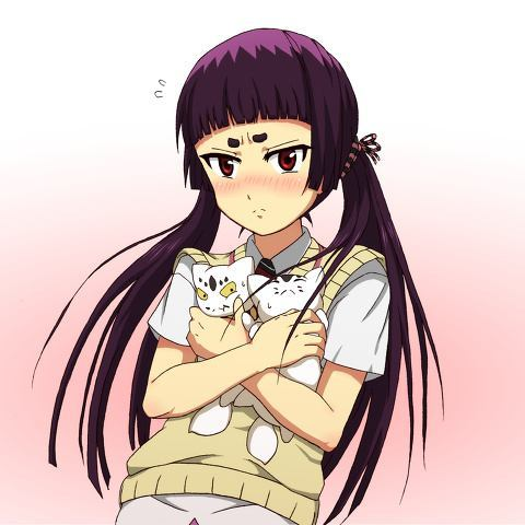 I'm surprised nobody পোষ্ট হয়েছে Izumo. Her hair is normally in two ponytails. ^-^