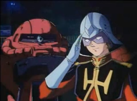 Char Aznable during the first Mobile Suit Gundam. He also inspired the Char Clone archetype: http://tvtropes.org/pmwiki/pmwiki.php/Main/CharClone