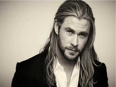 Thor with long hair