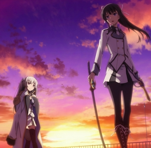 Hotaru Rindō(dark hair) has....some certain connection to Maihime Tenkawa(white hair).