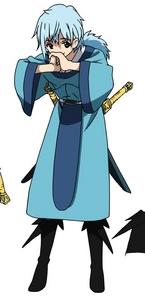 Seisyun Ri from Magi: Labyrinth/Kingdom of Magic. What tu might find weird is his resemblance to a tomboy.