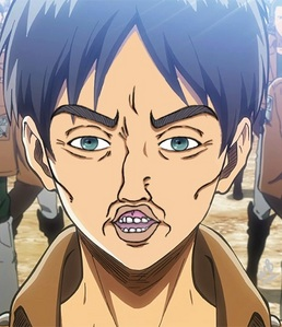 "Eren Jaeger (From Attack on Titan) ""Eren after watching Boku no Pico"" :"