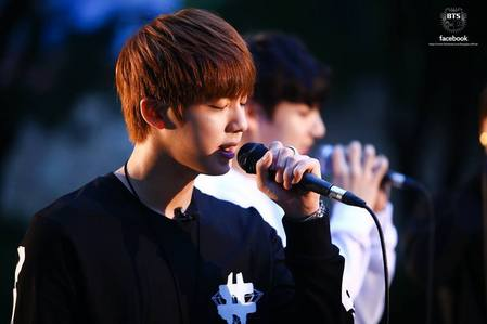 Although Jimin is my bias I think Jin has the most sweet and heartwarming voice, <3 then Jimin comes second! And then V ~ X3