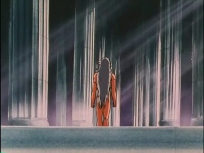 Saga from Saint Seiya after he gets out of the bath.