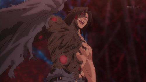 Gutoku Asanagi took on this form part way into his fight with the male m.c.s of Qualidea Code. I think of him as meer of an anti-villain though, since I think what he zei to them was a bluff to make them attack him even though Aoi Yaegaki(who seems to be his daughter) disabled their powers(called worlds) using her own. In fact, he really wanted the war to be over as much as they did. After the fight, he went to save an unconscious Aoi from dying.