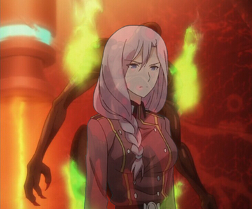 Airi Yūnami from the Qualidea Code anime. She's an alien that's taken the form of a beautiful human woman. Her true form is arguably beautiful as well.