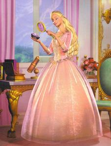 Not really sure, but I would love to have Princess Anneliese's roze japon, jurk from Barbie Princess & Pauper <3