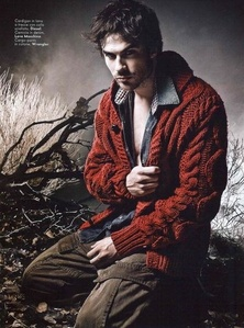 Ian in a red sweater