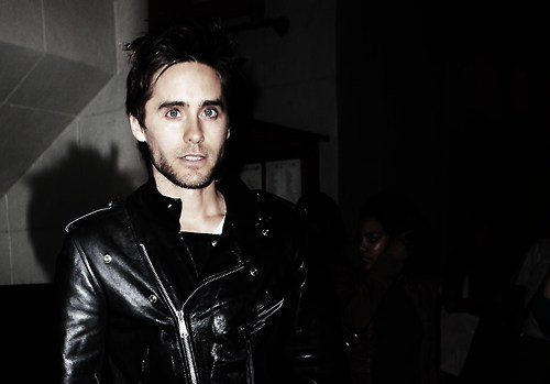 Leto in black leather