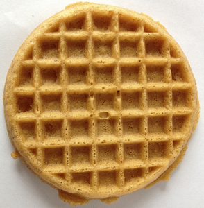 My opinion is waffles. Really really plain kinda boring waffles, but ones I'd eat anyway.