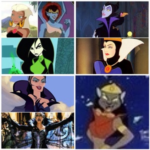I think Maleficent from Sleeping Beauty, Mirage from Aladdin: The Animated Series, Demona from Gargoyles, Queen Grimhilde/The Evil Queen from Snow White and the Seven Dwarves, Queen Narissa from Enchanted, Queen La from The Legend of Tarzan and Shego from Kim Possible are hot, I can't decide who I think is hotter.