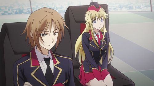 Canaria Utara from Qualidea Code. In this case, she was a tahun older than Ichiya Suzaku, but her longer amount of cryosleep resulted in him catching up to her in age.