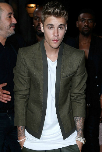 Suited and booted Justin