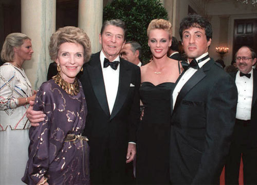 Sylvester with President Reagan :)