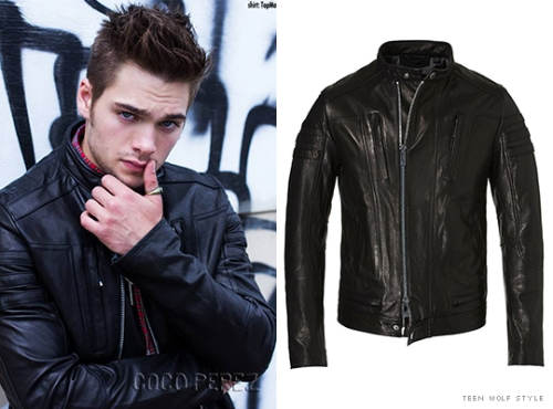 Dylan Sprayberry in leather