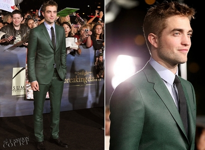 gorgeous in green Gucci suit<3