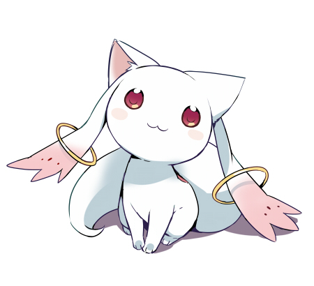 Everyone hates Kyubey:D This is lying evil alien with deceptive cute externality