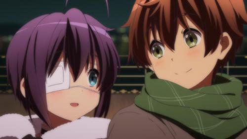 Rikka and yuuta <3 JUST চুম্বন DAMNIT!!!!!!