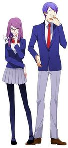 Rize Kamishiro (left) Tsukiyama Shuu (right)