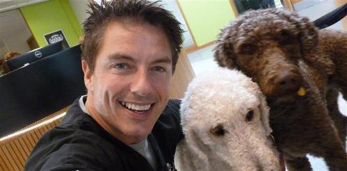 John Barrowman LOVES animals..