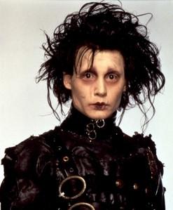 Johnny Depp aka Edward Scissorhands with messy hair :)