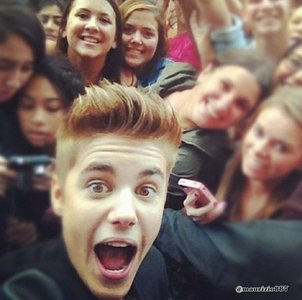 Justin and his Beliebers