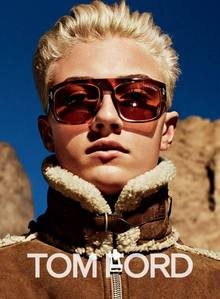 Lucky Blue wearing shades