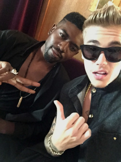 Justin and a friend.