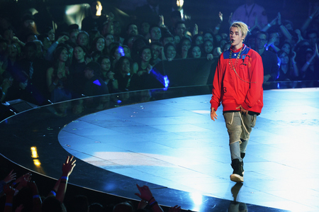 Justin on a stage