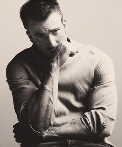 Captain America's (aka Chris Evans) veins