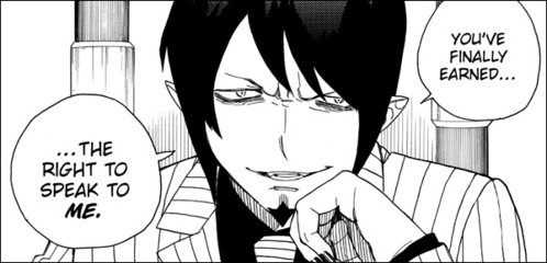 Mephisto. Aka Samael, King of Time and một giây born of Satan's sons, only younger to Lucifer, King of Light. His (known so far) younger brothers are Amaimon, Rin, and Yukio. <i>ALL RELATED TO ME bởi MARRIAGE! MWUHAHAHA!!!</i>