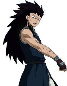 Gajeel Redfox from Fairy Tail has long hair.
