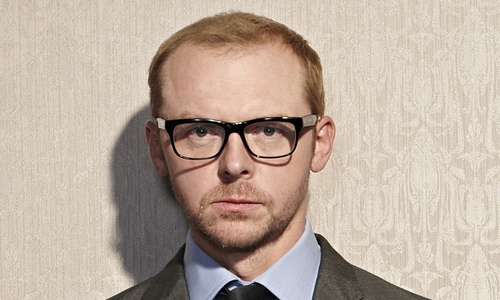 simon pegg is madami funny and cute than hot.